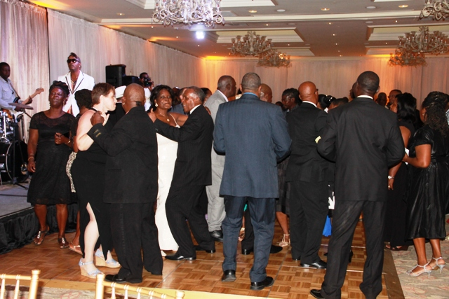 Ministry of Tourism awardees, guests and staff; Premier of Nevis Hon. Vance Amory and his wife Verni Amory, took to the dance floor at the 2016 Tourism Awards Gala and Dance at the Four Seasons Resort on May 28, 2016