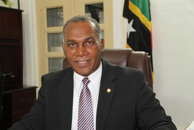 Premier of Nevis Hon. Vance Amory at the Nevis Island Administration offices at Bath Plain on June 08, 2016