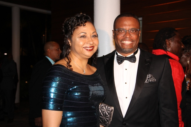 Deputy Premier of Nevis and Minister of Tourism Hon. Mark Brantley and his wife Mrs. Sharon Brantley at the recent awards ceremony and gala hosted by the Ministry of Tourism at the Four Seasons Resort