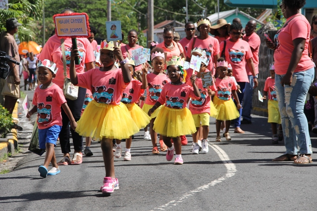 Students from the Maude Crosse Prep School at the Child Month Parade in Charlestown on June 10, 2016