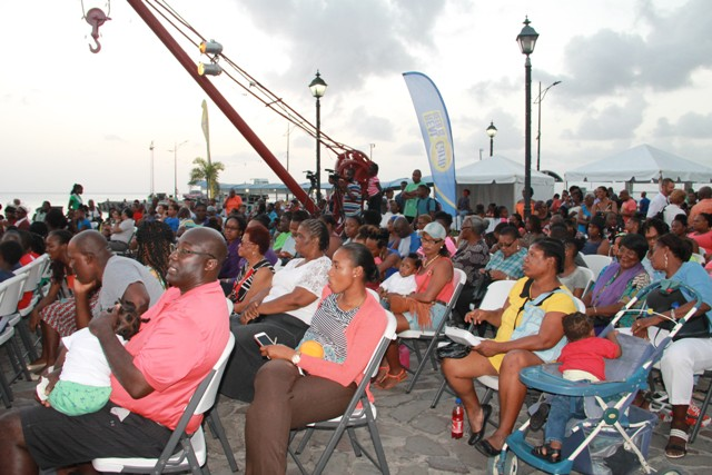 A section of patrons at the launch of Culturama 42 at the Charlestown waterfront on July 21, 2016