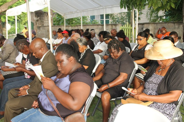A section of persons attending the 46th annual Memorial Service at the Hamilton Museum Grounds, in observance of the MV Christena Disaster