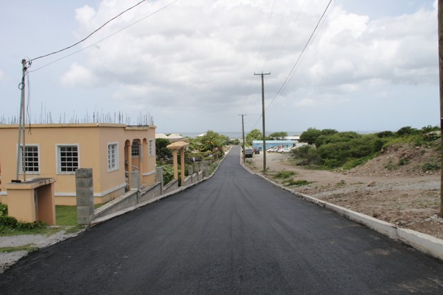 The new Lower Farms/Bath Plain road on July 29, 2016