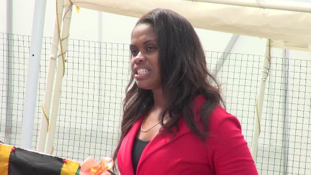 Principal of the Charlestown Primary School Latoya Jeffers