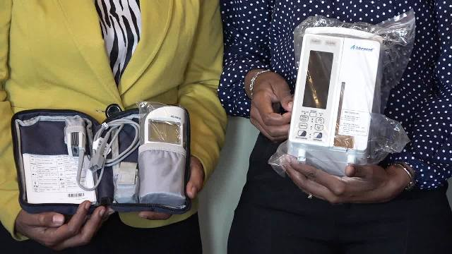 A Pulse Oximeter and an Infusion Pump donated to the Paediatric Ward by the Paediatric Assistance League of St. Kitts and Nevis at the hospital's conference room on October 18, 2016