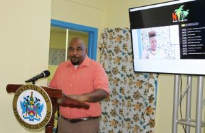 Director of the Department of Information Huey Sargeant at the launch of Nevis Tv Online