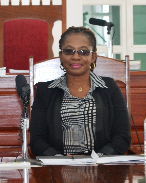 Clerk of the Nevis Island Assembly Myra Williams (file photo)