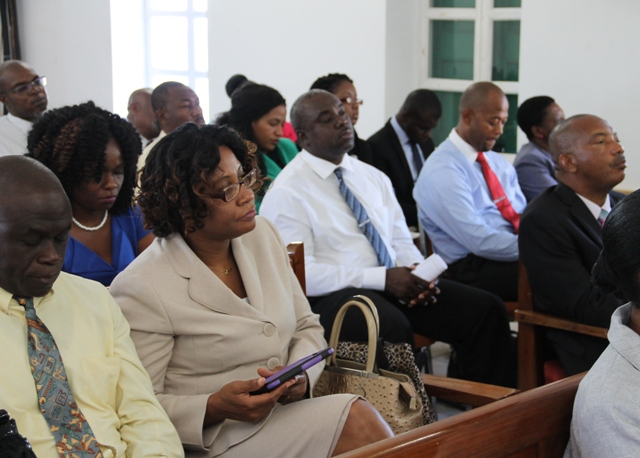 A section of the public gallery at the Nevis Island Assembly sitting on November 30, 2016