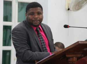 Hon. Troy Liburd, Junior Minister in the Ministry of Communications, Works and Public Utilities in the Nevis Island Administration, at a sitting of the Nevis Island Assembly (file photo)