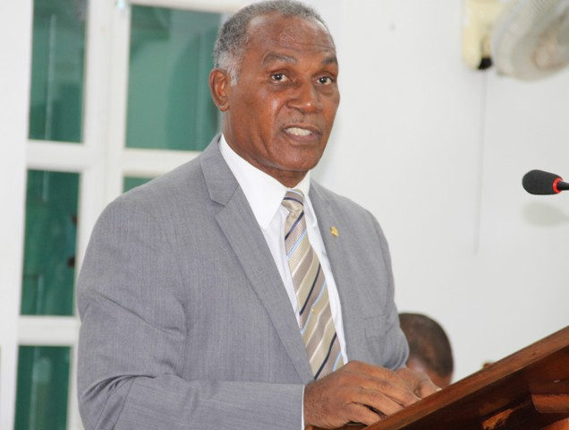Premier of Nevis Hon. Vance Amory at a sitting of the Nevis Island Assembly (file photo)