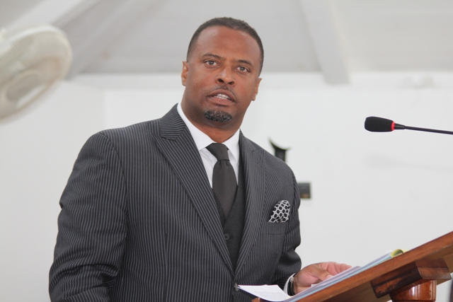 Deputy Premier of Nevis and Minister of Tourism Hon. Mark Brantley at sitting of the Nevis Island Assembly (file photo)