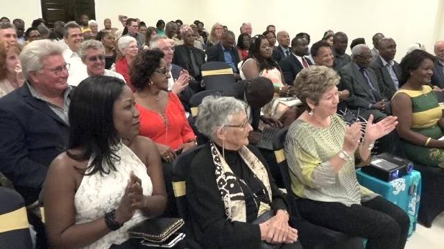 "A section of the invitees at the premier of acclaimed Historian and Author Dr. June Goodfield's film ""The Time Detective"" based on her novel ""Rivers of Time"" at the Social Security's conference room at Pinney's on January 14, 2017, at a VIP event hosted by the Ministry of Tourism, in collaboration with Dr. Goodfield and the British Broadcasting Corporation"