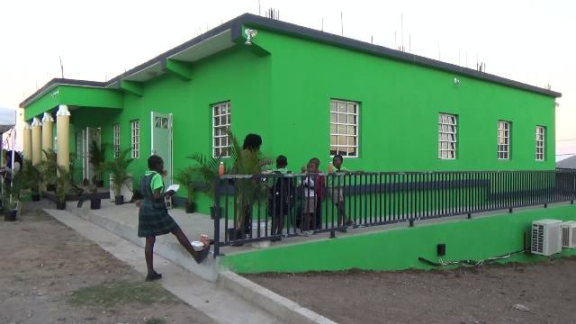 The Joycelyn Liburd Primary School's cafeteria in Gingerland, after its official opening on February 14, 2017