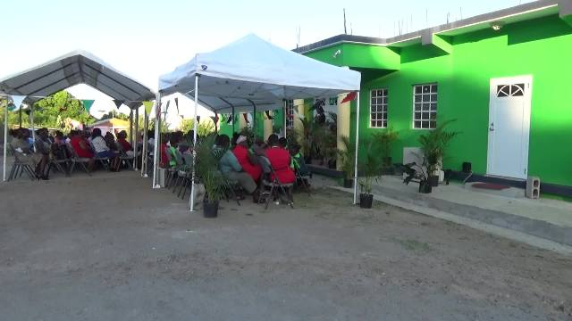 A section of persons present at the official opening ceremony for the Joycelyn Liburd Primary School's cafeteria in Gingerland on February 04, 2017