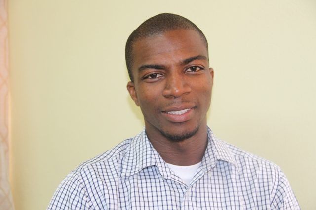 Joshua Browne, Coordinator of the Literary and Debating Society at the Nevis Sixth Form College