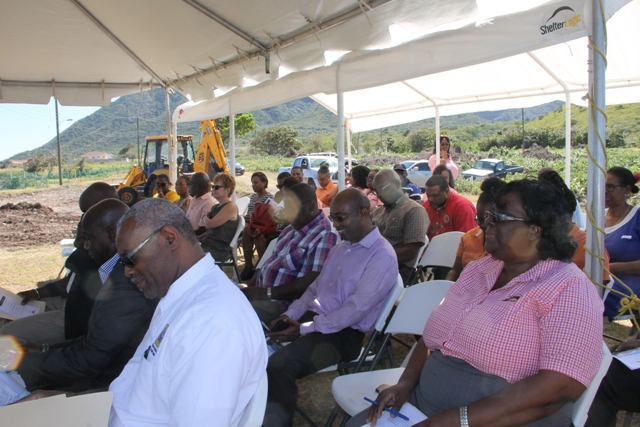 A section of invited guest at the ground breaking ceremony for the Cedar View Housing Development at Maddens on February 24, 2017