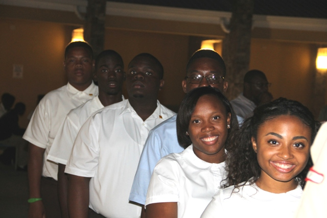 Members of the Literary and Debating Society of the Nevis Sixth Form College who will represent Nevis at the opening ceremony for the 45th annual Leeward Islands Debating Competition on February 23, 2017 at the at the Nevis Performing Arts Centre