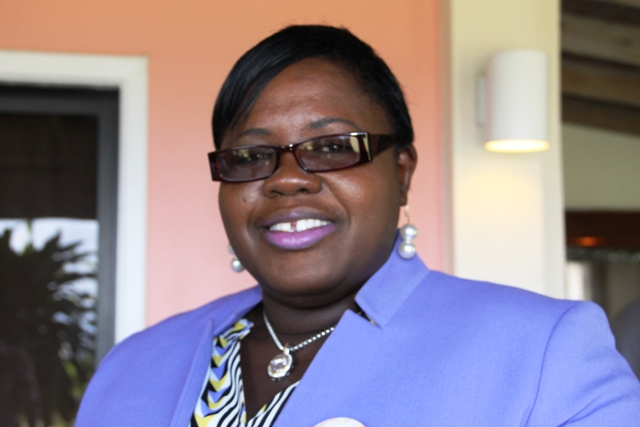 Hon. Hazel Brandy-Williams, Junior Minister in the Ministry of Social Development on Nevis at the Sub-Regional Women's Forum on the SDGs hosted by the Ministry of Social Development in the Nevis Island Administration in collaboration with the Commonwealth Women Parliamentarians and supported by the Organisation of American States at the Mount Nevis Hotel on March 22, 2017