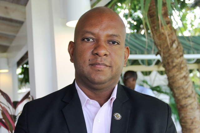 Terrence Craig, Organisation of American States Representative to St. Kitts and Nevis at the historic two-day Sub-Regional Woman's Forum on the SDGs hosted by the Ministry of Social Development in the Nevis Island Administration in collaboration with the Commonwealth Women Parliamentarians, at the Mount Nevis Hotel on March 22, 2017