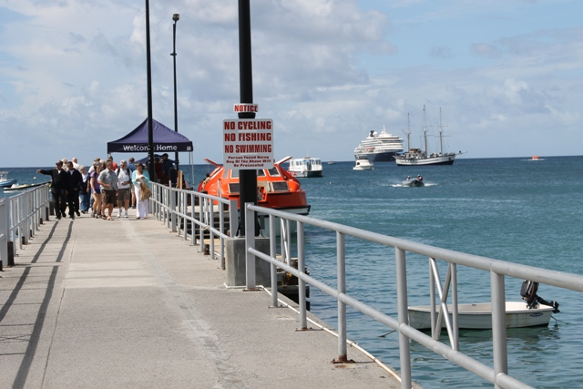Cruise passengers from ships docked at the Charlestown Port in Nevis during the 2016/17 Cruise Season (file photo)