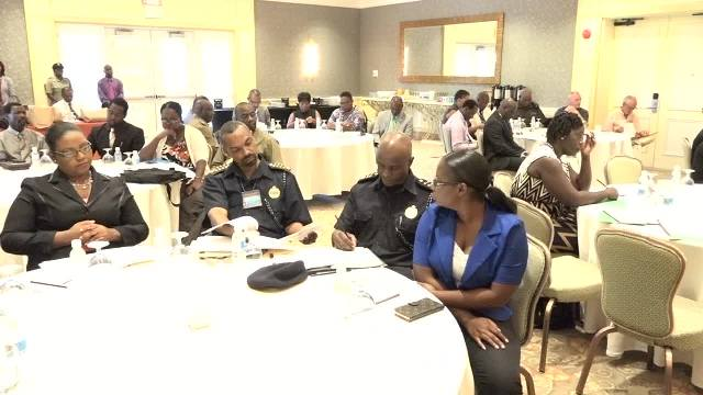 A section of participants at Part 2 of a Crime Symposium Workshop at the Four Seasons Resort, Nevis, hosted by the Ministry of National Security on March 02, 2017