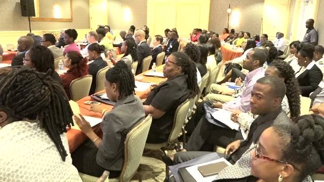 A section of participants at the Nevis Financial Services (Regulatory and Supervision) Department's 2017 Anti-Money Laundering/Counter Financing of Terrorism Awareness Seminar and Training Workshop, at the Four Seasons Resort on March 07, 2017
