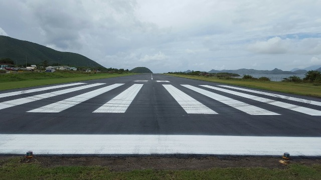 Completed rehabilitation work on the runway at the Vance W. Amory International Airport