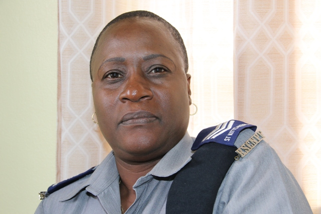 Sergeant Marva Chiverton, Head of the Traffic Division in Nevis (file photo)