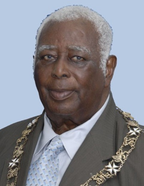 The late Sir Cuthbert Montraville Sebastian, GCMG, OBE, MD, ED, KSTJ former Governor General of St. Kitts and Nevis