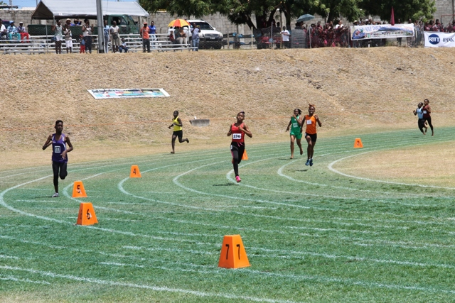 "Athletes racing at the Gulf Insurance Primary School Championships dubbed ""Mini Olympics"" at the Elquemedo T. Willett Park in Charlestown, Nevis (file photo)"