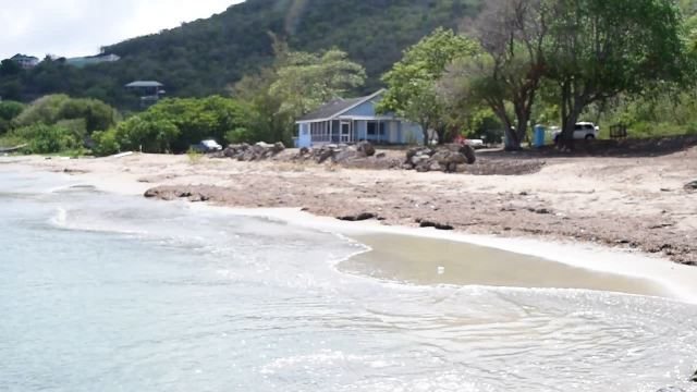 The area earmarked for a new water taxi pier on Oualie Beach at Jones Estate