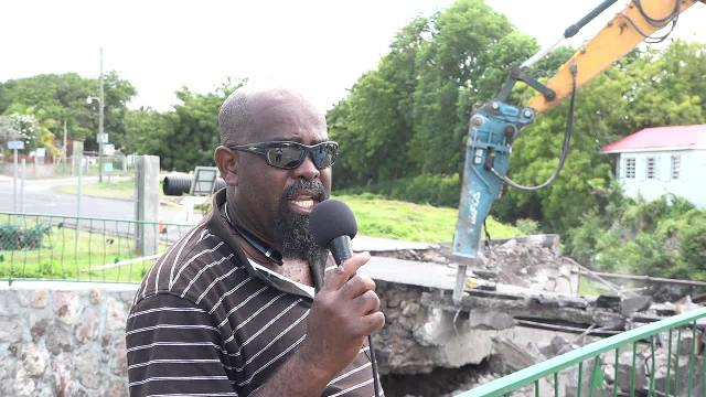 Daniel Williams, Supervisor of Roads, Public Works Department in the Ministry of Communication and Works on Nevis