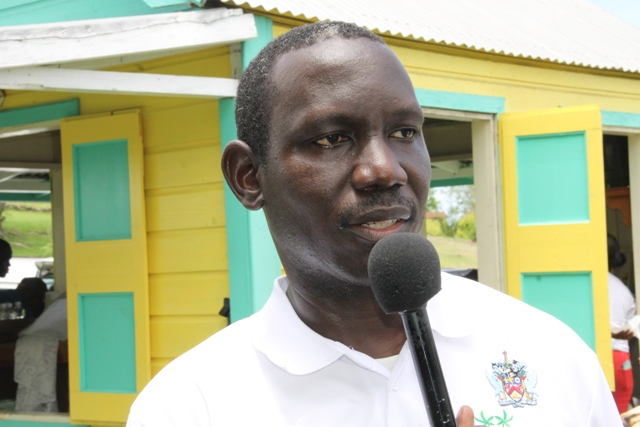 John Hanley, Acting Permanent Secretary in the Ministry of Tourism at the Nevis Open Day at the Nevisian Heritage Village at Fothergills on May 11, 2017