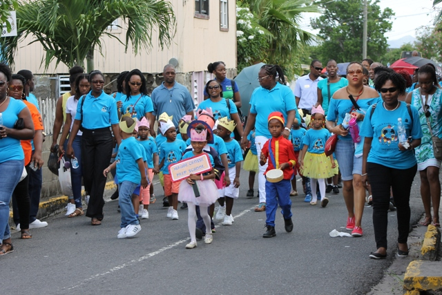 A section of the Child Month Parade in Charlestown on June 09, 2017
