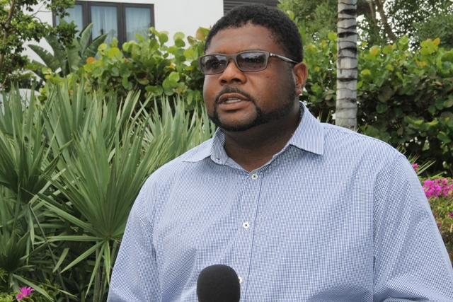 Hon. Troy Liburd, Junior Minister in the Ministry of Communications and Works at the Four Seasons Resort Estates following a tour of ongoing projects on Nevis on June 13, 2017