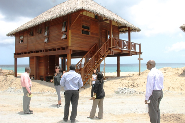 A team from the Ministry of Communication and Works and the Physical Planning Department visiting Paradise Beach Expansion Project with General Manager Donna Woolfenden on June 13, 2017