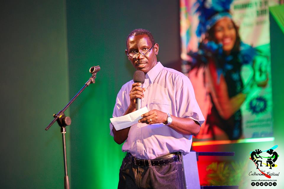 Acting Permanent Secretary in the Ministry of Culture John Hanley on opening night at the newly refurbished $1.7million Cultural Village on June 14, 2017