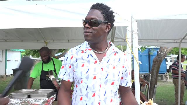 Livingston Liburd at the Nevisian Chef Mango Fest at Oualie Beach on July 09, 2017