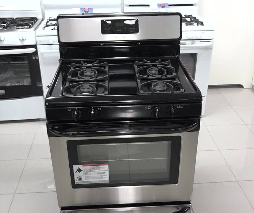 A new 30inch Frigidaire gas stove donated by the Ministry of Tourism in the Nevis Island Administration to officers of the Prison Farm on Nevis