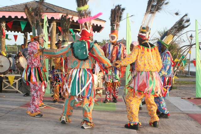 Masqueraders performing (file photo)