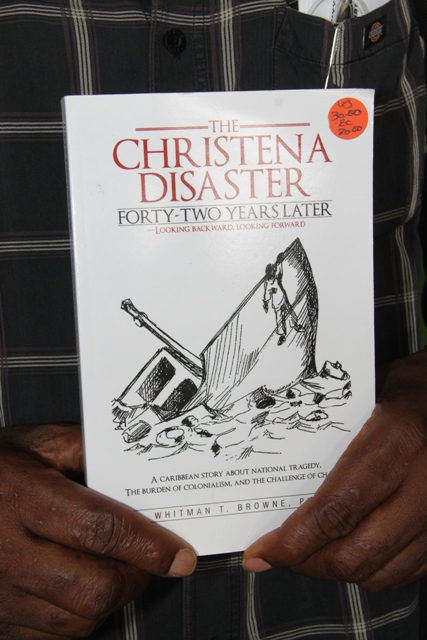The cover of Dr. Whitman Browne's third book publication in 2013 on the 1970 M.V. Christena Disaster