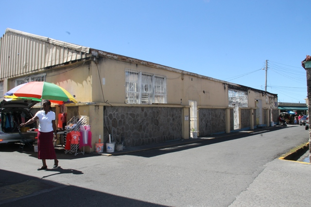 The Treasury Building Complex, next to the George Mowbray Hanley Market Complex (Charlestown Public Market), gutted by fire a few years ago, before demolition works in preparation for the Reconstruction of Treasury Building Complex Project commenced