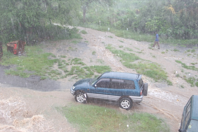 A flooded area on Nevis after excessive rainfall (file photo)