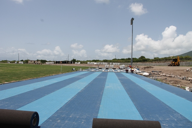 The final surface being laid at the Mundo Track Project at Long Point on August 22, 2017, as the end of Phase One looms
