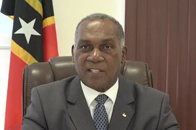 Hon. Vance Amory, Premier of Nevis and Minister of Education in the Nevis Island Administration speaking on the overall results for the 2017 overseas examinations at his Pinneys Estate office on September 01, 2017