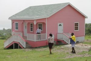 The new three-bedroom home of Stephanie Freeman gifted to her and her seven children on October 19, 2017, by the Ministry of Social Development as part of its Community Home Assistance programme to assist the poor and most vulnerable on Nevis.