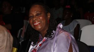 Mrs. Garcia Hendrickson, Patron of the first ever Miss Nevis Senior Pageant