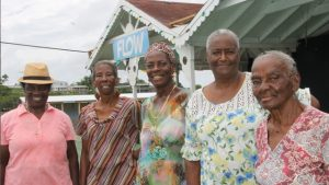 Participants in the first ever Miss Nevis Seniors Pageant, slated for October 28, 2017, moments after their rehearsals at the Nevis Cultural Complex on October 26, 2017, (l-r) Delores Richardson, Mareta Hobson, Catherine Tyson, Yvonne Rogers and Sarah Browne
