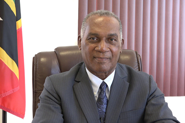 Premier of Nevis and Minister of Education in the Nevis Island Administration, Hon. Vance Amory delivering an address on Wednesday October 04, 2017, at his office at Pinney's Estate in recognition of World Teachers' Day observed on October 05