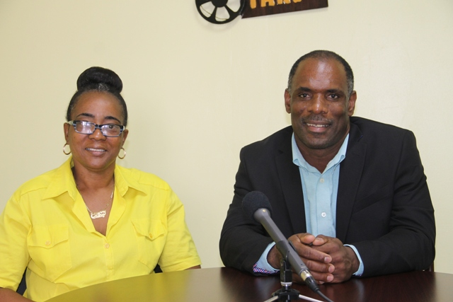 Mr. Colin Dore, Permanent Secretary in the Ministry of Finance on Nevis and Mrs. Catherine Forbes, Development Officer in the Small Enterprise Development Unit in the Ministry of Finance